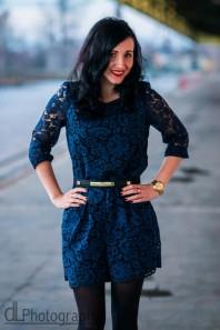 Blue Lace Jumpsuit