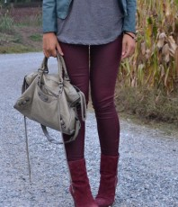 Röhre in bordeaux | Herbst-Style | Style my Fashion