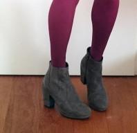 Meine grauen Wildleder-Stiefeletten
