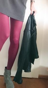 Klassiche schwarze Lederjacke