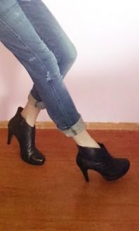 Ankle Bootie mit Plateau