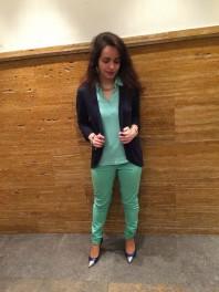 mintgrünes Poloshirt