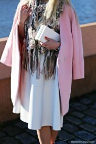 Rosefarbener Kurzmantel kombinieren: 'pink coat' (Damen, Mantel, rosa, Bilder) | Style my Fashion