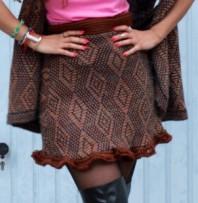 Dunkelbraun/brauner Rock kombinieren: 'Omis Strick' (Damen, Rock, braun, Bilder) | Style my Fashion