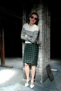Mix it: Tartan Skirt & Stripes