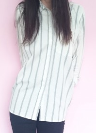 Oversized Boyfriend Striped Shirt