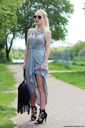 Gray dress   Style my Fashion