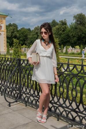White Chiffon Dress | Style my Fashion