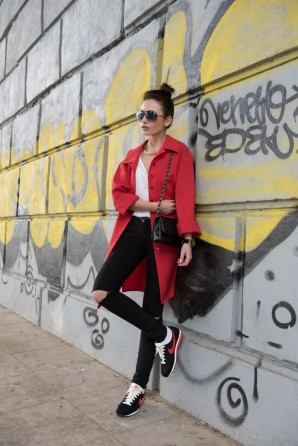 red coat | Style my Fashion