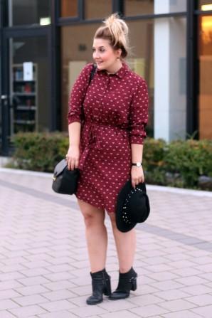 bordeauxfarbenes kleid | Style my Fashion