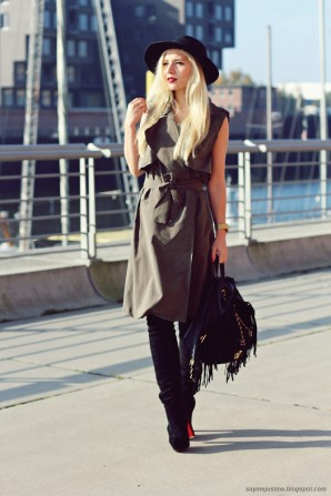 Khaki Vest Dress | Style my Fashion