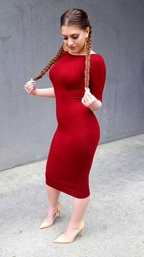 red Bodycon Dress  | Style my Fashion
