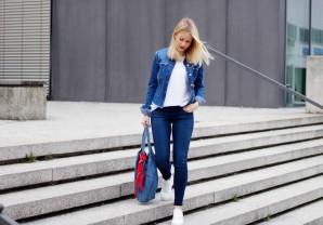 DENIM & WHITE SNEAKER | Style my Fashion
