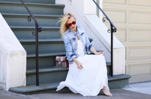 WHITE DRESS & DENIM JACKET | Style my Fashion