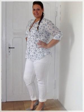 Plus Size Weiße Jeans