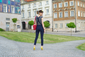 navy dungarees | Style my Fashion