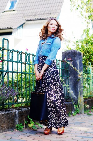 Floral Maxi Skirt | Style my Fashion