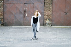 long grey cardigan | Style my Fashion