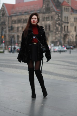 Fur & Burgundy   Style my Fashion