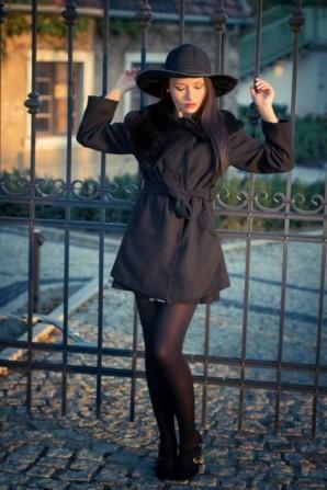 Black coat   Style my Fashion