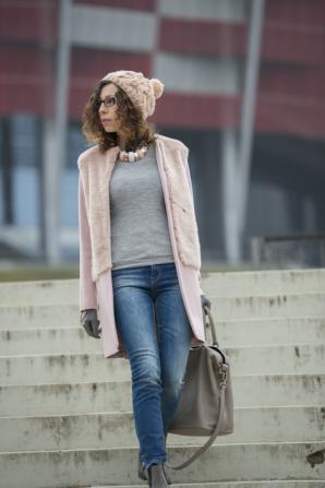 pale pink coat | Style my Fashion