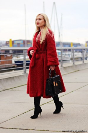 Red coat   Style my Fashion
