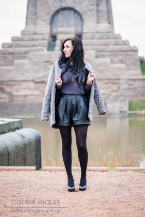 Black leather skort   Style my Fashion