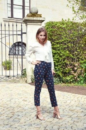 Schluppenbluse & Musterhose | Style my Fashion