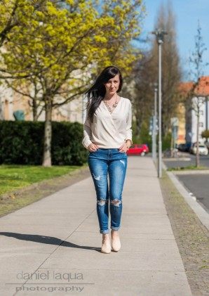 White and ripped denim | Style my Fashion