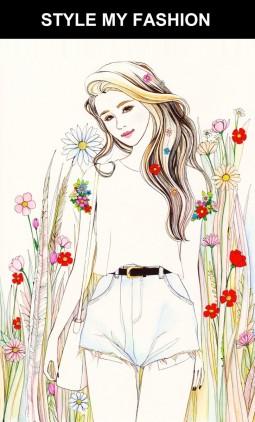 Fashion-Illustration des Outfits von Schneewittchen