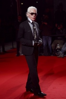 Karl Lagerfeld auf der Extreme Beauty In Vogue Party 2009 in Mailand