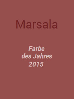 Marsala - Farbe des Jahres 2015 | Style my Fashion