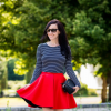 Red scuba skirt