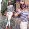 le grand bleu // blaues ringelshirt und weiße jeans | Style my Fashion