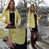 Yellow Boyfriend Blazer | Style my Fashion