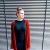 GREY Knit Bodycon midi DRESS + TERRACOTTA Cardigan + Boots  | Style my Fashion