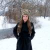 Black coat + leather pants+ boots + cat fur hat SNOW  | Style my Fashion