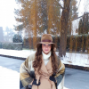 camel coat + hat + poncho + boots + light blue jeans | Style my Fashion