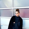 black fur coat + leather pants + overknees + turtleneck kimono pullover | Style my Fashion