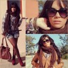 Brown & burgundy   Style my Fashion