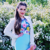 flowerprint crop top + blue skirt + blazer - wedding guest look | Style my Fashion
