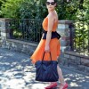 Orange dress & peplum belt | Style my Fashion