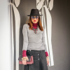 Gray and Burgundy | Style my Fashion
