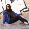 Blue Leather Biker Jacket and Wild Stilettos | Style my Fashion
