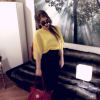 summer outfit- lemon yellow