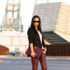 Burgundy Leather Sophistication | Style my Fashion
