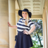 stripes, skaterskirt & hat | Style my Fashion
