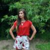 Klatschmohnprint und Erdbeerrot | Style my Fashion