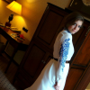 White Dress/ Skirt with Blue Ornaments - Milano | Style my Fashion
