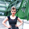 OOTD Pin up Girl Style - black Pencil Skirt + Dots + Quiff Hair Vienna | Style my Fashion